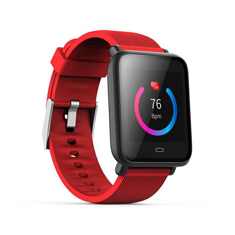Q9 Smart Watch Sport Bracelet IPS Calories Heart Rate Sleep Monitor Blood Pressure Fitness Tracker - Red