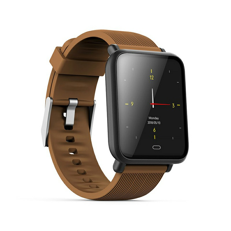 Q9 Smart Watch Sport Bracelet IPS Calories Heart Rate Sleep Monitor Blood Pressure Fitness Tracker - Coffee