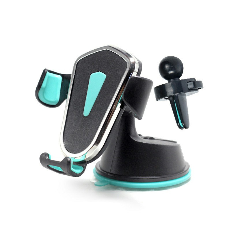 Gravity Cellphone Bracket Suction Mount Universal Phone Stand Holder for Car Air Conditioning Outlet Dashboard - Green