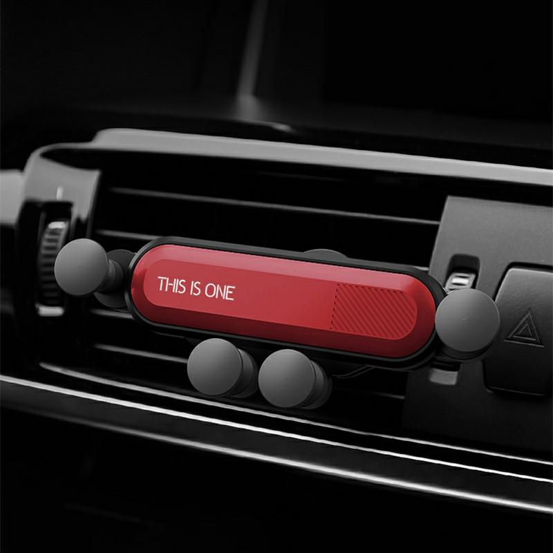 One Deformable Gravity Car Phone Holder Air Outlet Mount Holder Bracket - Red