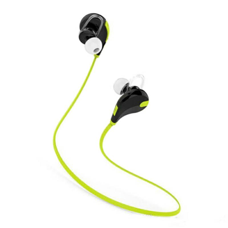 Bluetooth Wireless Headset Stereo Headphones Earphones Sport Universal Handfree - Green