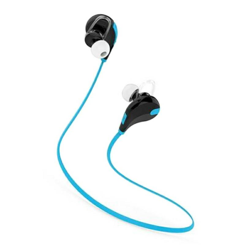 Bluetooth Wireless Headset Stereo Headphones Earphones Sport Universal Handfree - Blue
