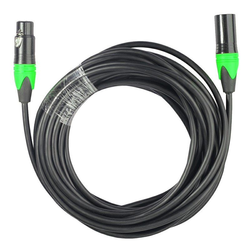 Green Copper Cored XLR Male to Female Microphone Audio Cable Microphone Audio Connector - 10M