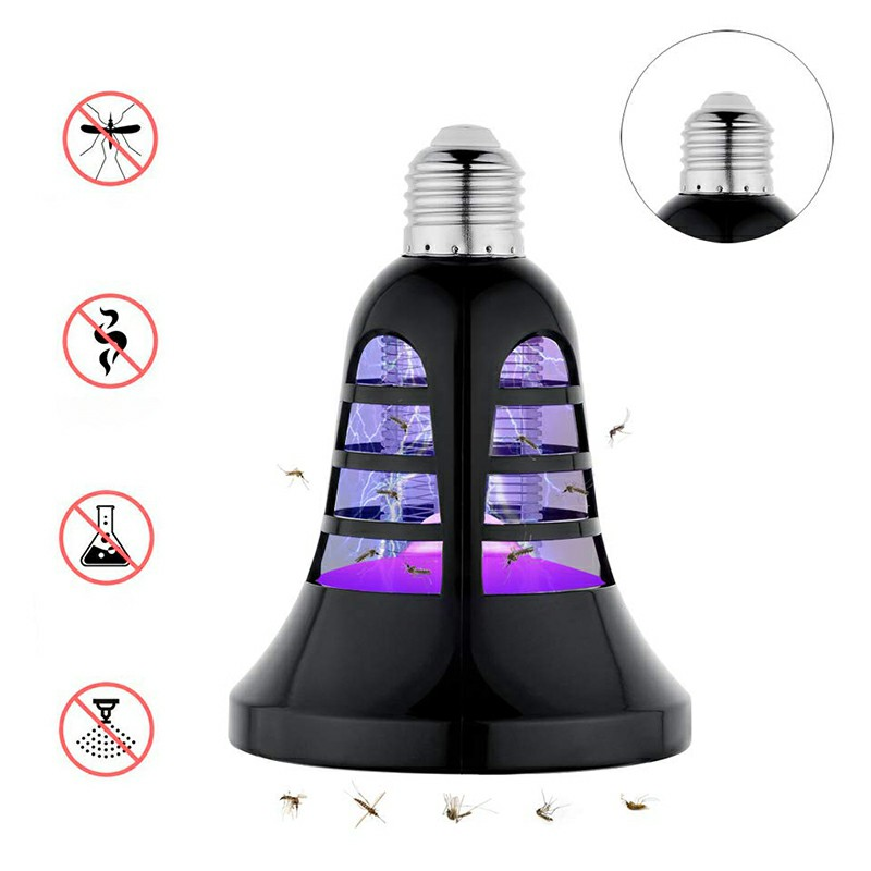 E27 Bug Zapper Light Bulbs Electric Shock Mosquito Fly Killer Bulb Mosquito UV Lamp Led Light for Indoor and Outdoor