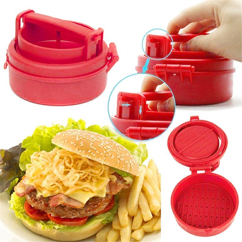 Hamburger Stufz Stuffed Burger BBQ Grill Sealed Patty Press Maker American Juicy