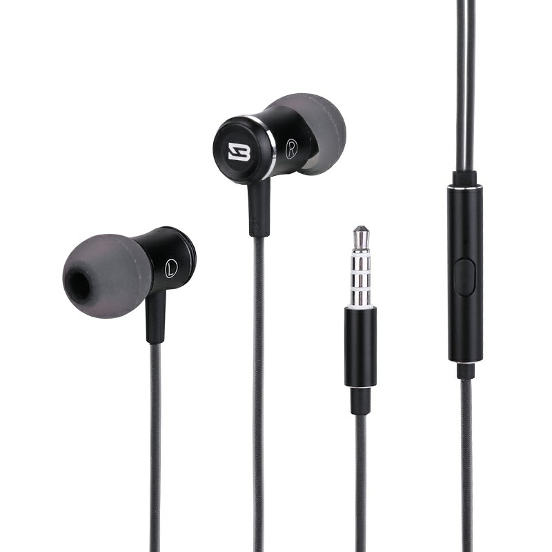 BS-SM559 Wired In-ear Earphones with Microphone Ergonomic Earbuds Headphones 3.5MM
