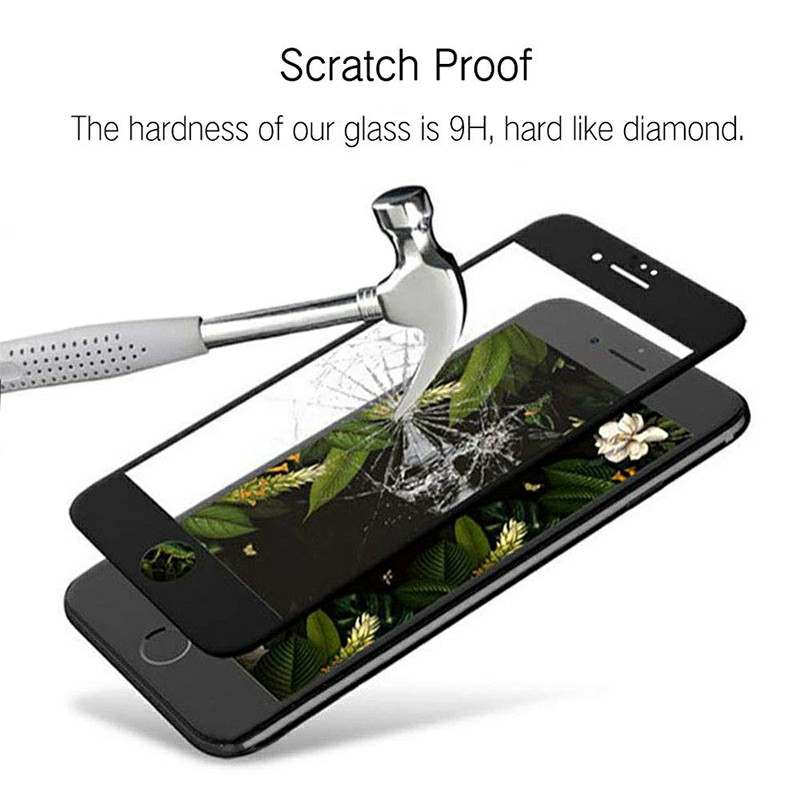 Full Cover Screen Protector Screen Protective Film Tempered Glass for iPhone7/8 - Black