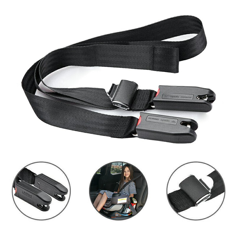Child Kids Safe Car Seat Fixing Band Strap Kit Install Fixed Belt Connector Isofix Latch