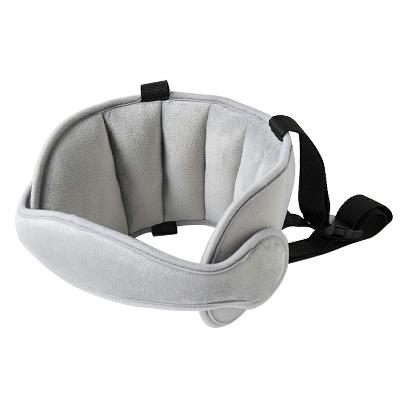 Child Baby Kids Head Support Stroller Buggy Pram Car Seat Belt Sleep Safety Strap - Grey