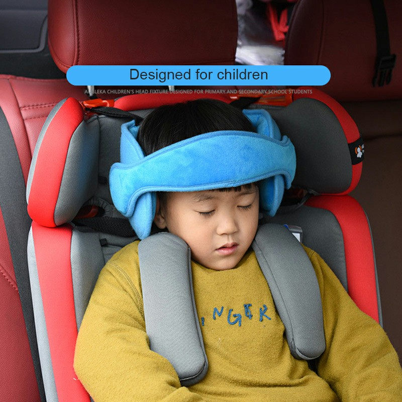 Child Baby Kids Head Support Stroller Buggy Pram Car Seat Belt Sleep Safety Strap - Light Blue