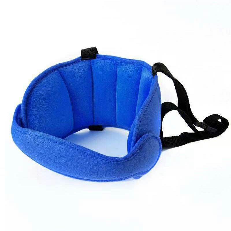 Child Baby Kids Head Support Stroller Buggy Pram Car Seat Belt Sleep Safety Strap - Dark Blue