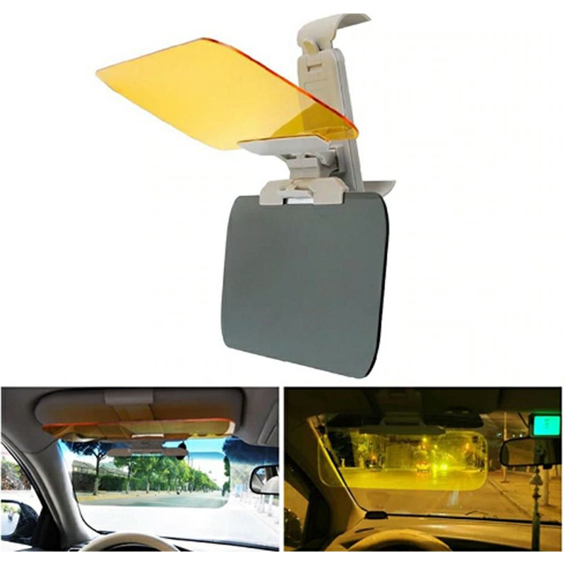 Anti-glare Dual Use Day and Night Driving Glass Goggles Mirror Sun Visor Sunshade