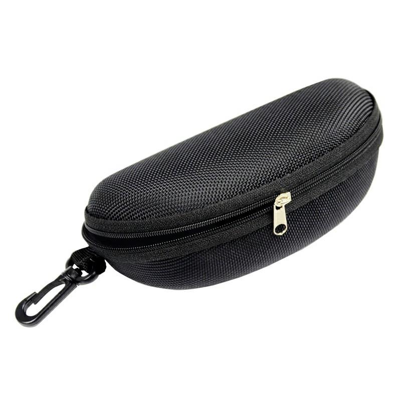 Sunglasses Reading Glasses Carry Case EVA Bag Hard Zipper Box Travel Pack Pouch - Black