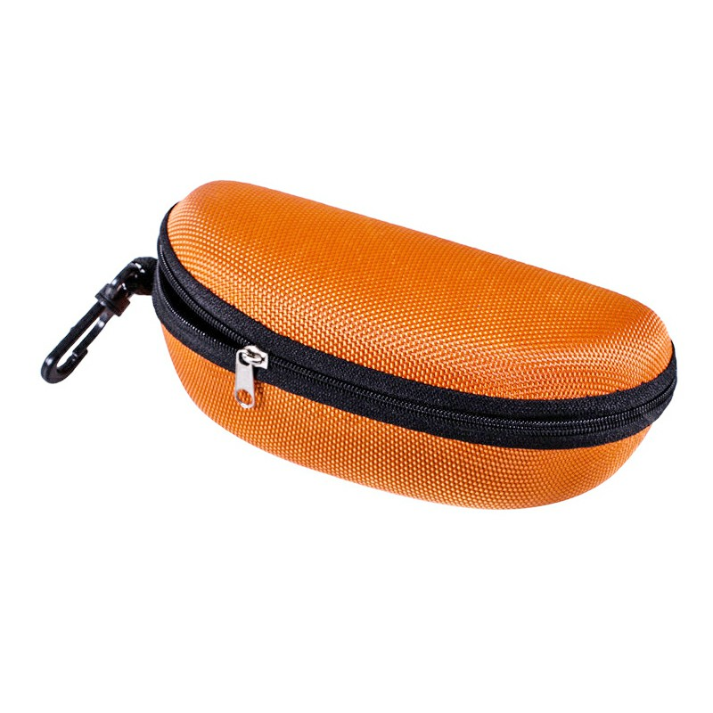 Sunglasses Reading Glasses Carry Case EVA Bag Hard Zipper Box Travel Pack Pouch - Yellow