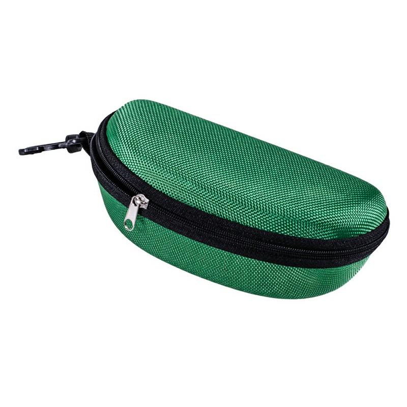 Sunglasses Reading Glasses Carry Case EVA Bag Hard Zipper Box Travel Pack Pouch - Green