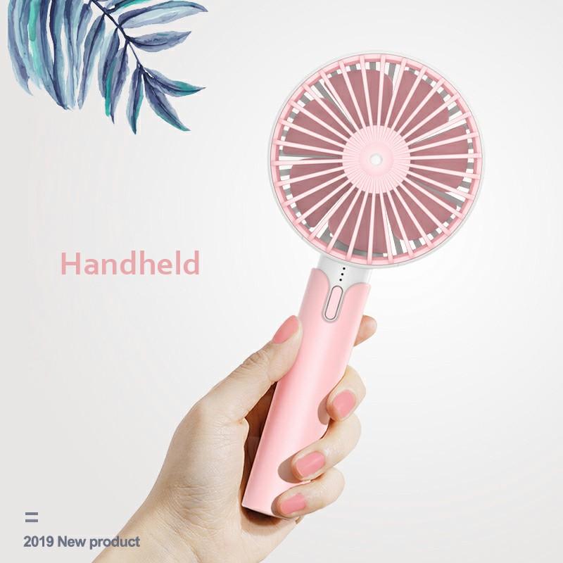 Summer Handheld Fan Portable Mini Fan USB Desktop Fan for Home Outdoor and Office - Pink