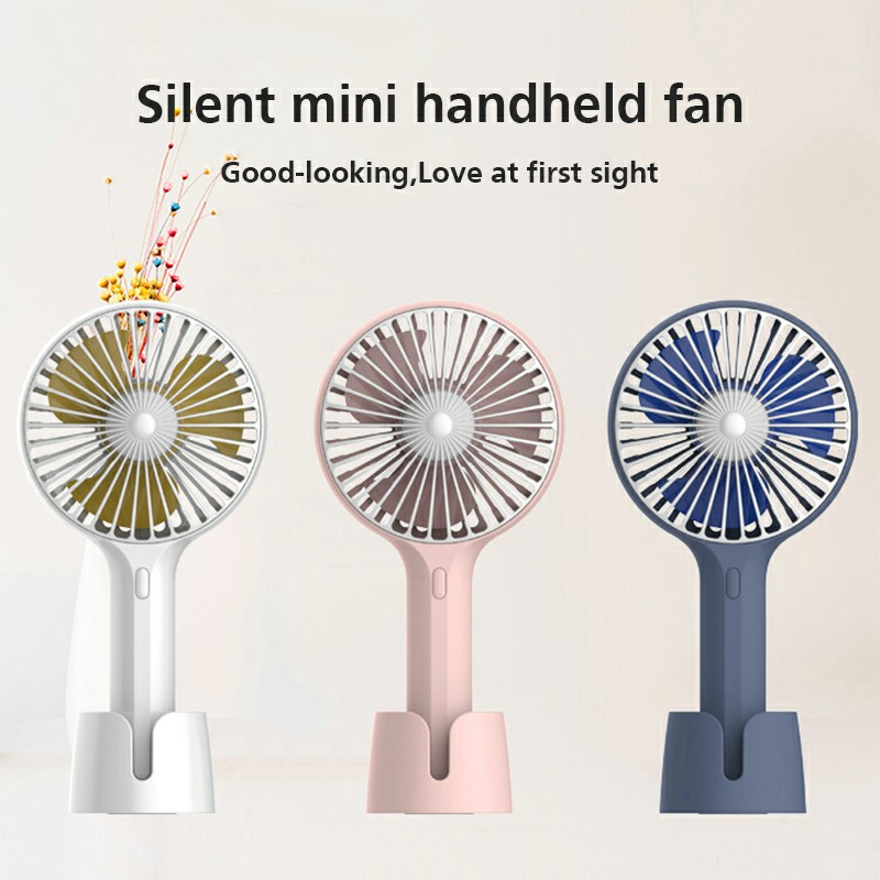 Summer Handheld Fan Portable Mini Fan USB Desktop Fan for Home and Office - White