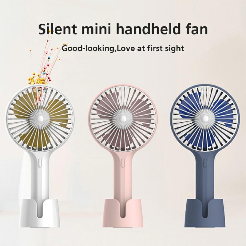 Summer Handheld Fan Portable Mini Fan USB Desktop Fan for Home and Office - Blue