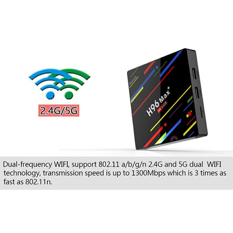 H96 Pro MAX 4GB+64GB Android 8.1 TV Box K17.6 HD Smart Network Media Player TV Box