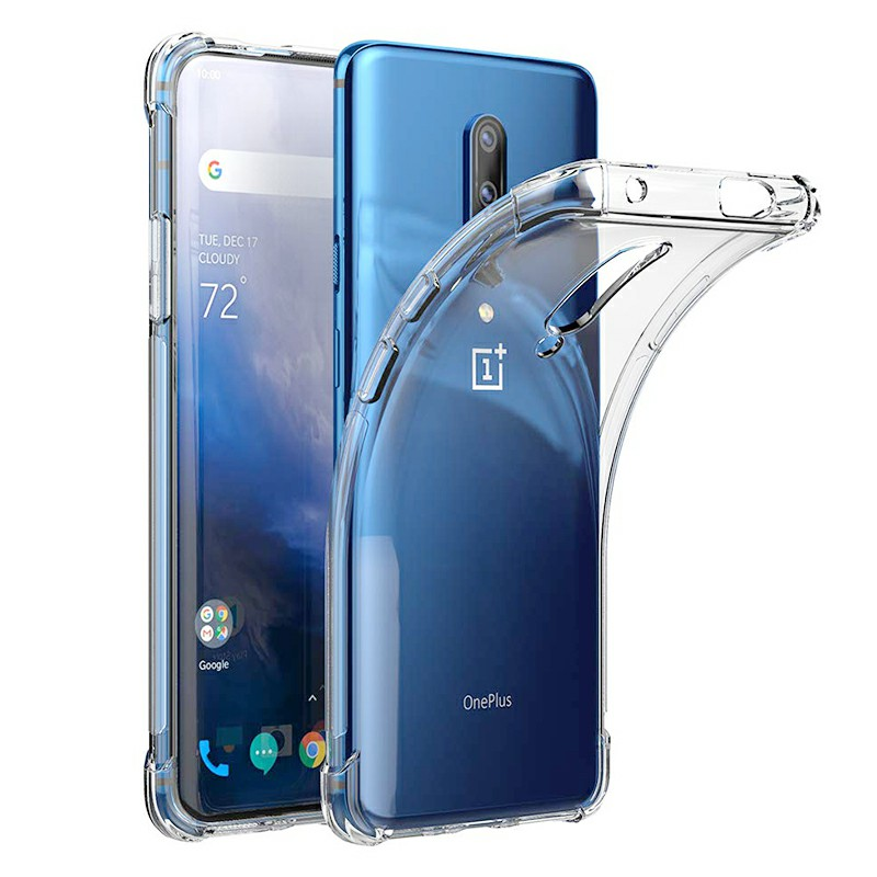 Transparent TPU Rubber Soft Skin Silicone Protective Case Phone Cover Bumper for OnePlus 7 Pro