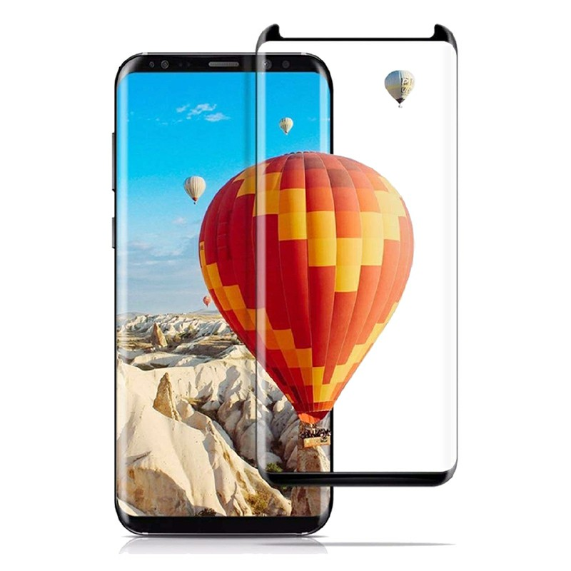 Phone Narrow Edge Screen Protector Film Tempered Glass Screen Protective Film for Samsung Galaxy S8 Plus - Black