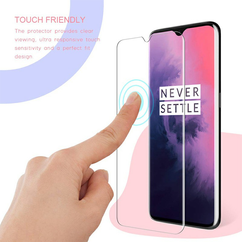 Phone Screen Protector Film Tempered Glass Screen Protective Film for Oneplus 7 - Clear