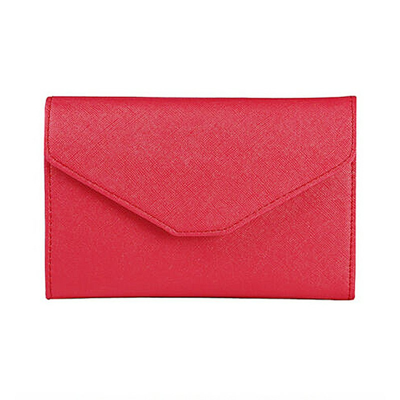 PU Leather Travel Bag Purse Wallet Document Organiser Passport Wallet Ticket Holder - Red