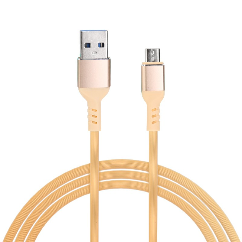 Android Charger TPE Cable Micro USB Charging Cable for Samsung Huawei Cellphone 1m - Yellow