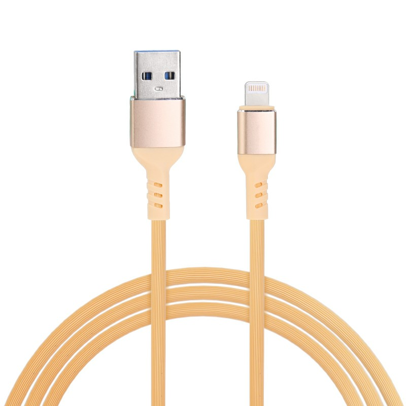 Apple Lightning Charging Cable iPhone Charger Cable Lightning Data Cable - Yellow