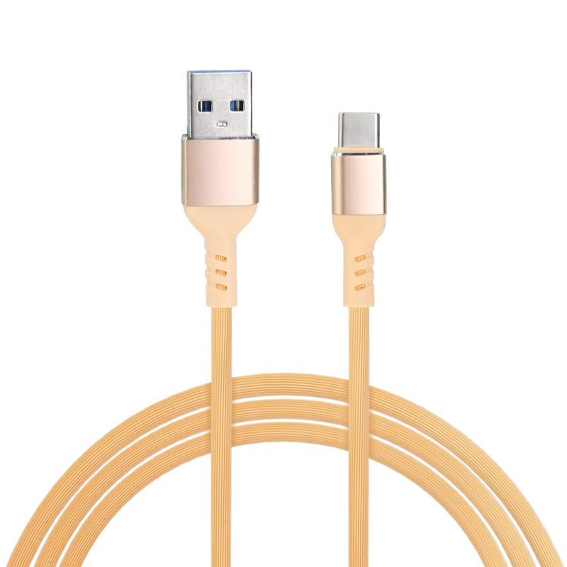 Type C USB 3.1 Charging Cable Android Charger Cable for Huawei Samsung Cellphones 1m - Yellow
