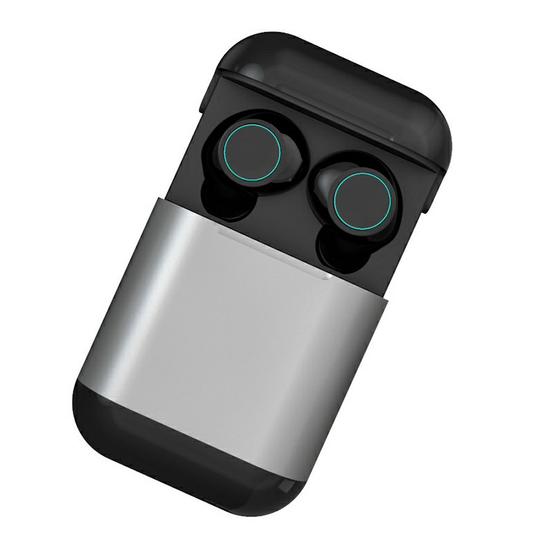 Original TWS S7 Bluetooth Headphones Earbuds Wireless Stereo Earphones with Mic Charging Box - Grey