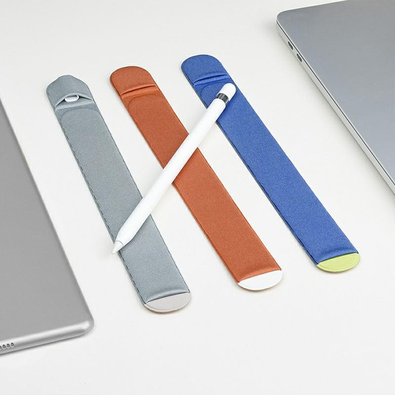3M Glue Apple Pencil Protective Case Cover Non-slip Cloth Holder Sticker - Grey