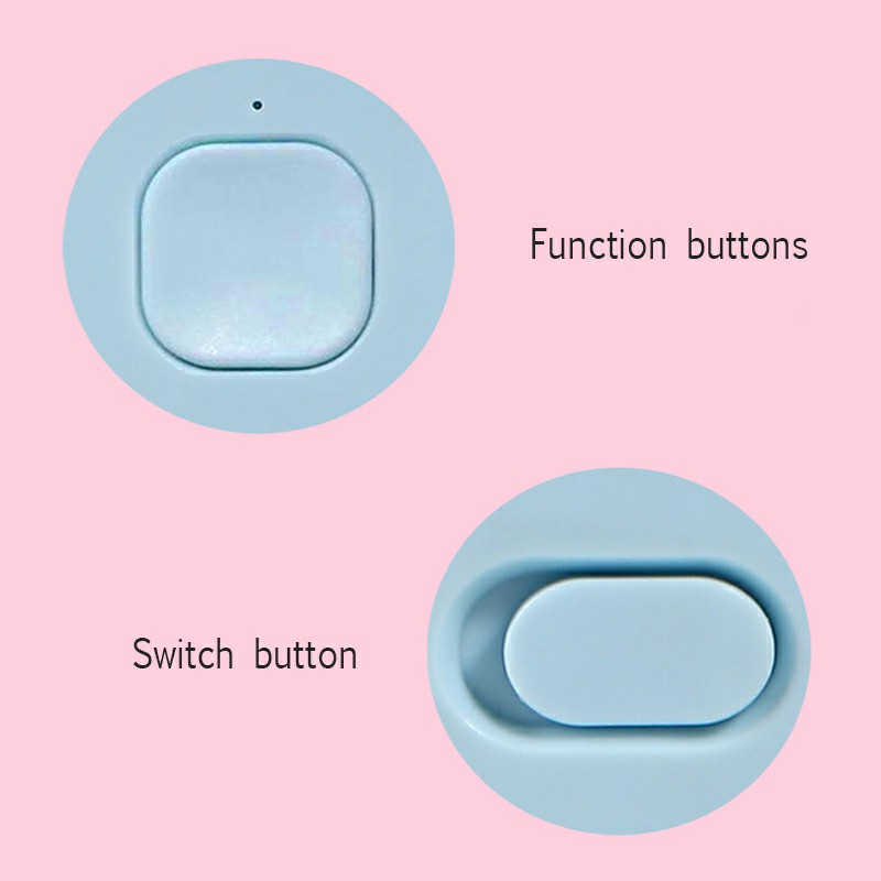Cute Cat Ear USB Summer Portable Mini Fan Light Handheld Fan - Blue