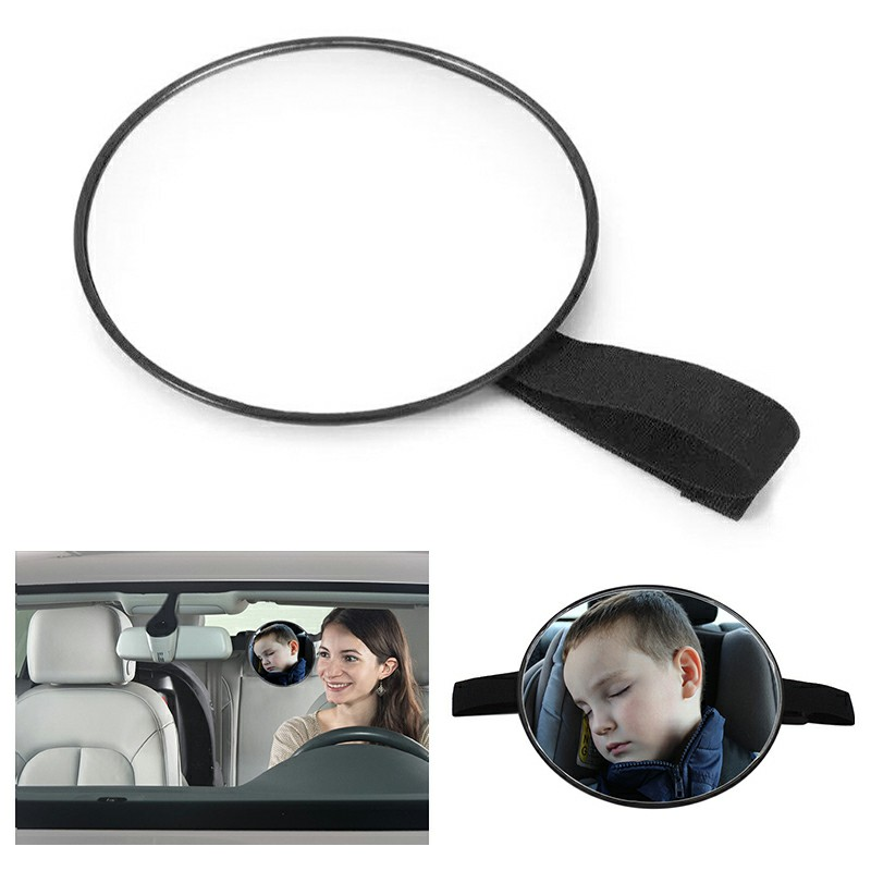 Car Rear Seat Large Wide View Baby Child Infant Care Seat Safety Mirror Headrest Mount