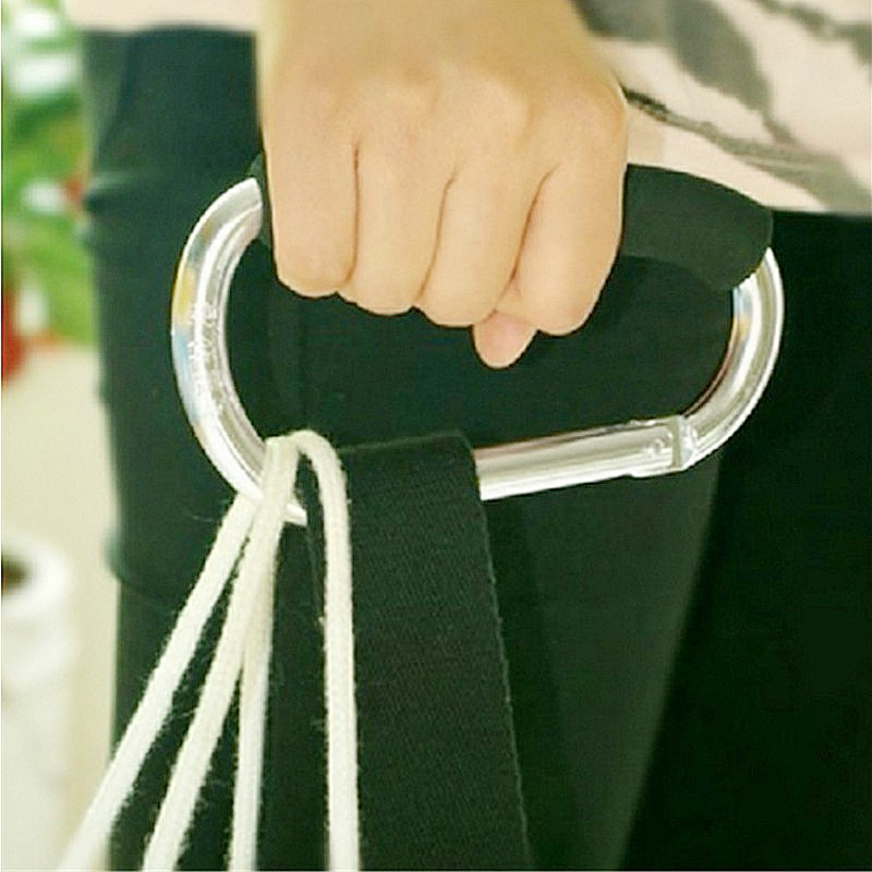 Buggy Clips Coloured Large Pram Pushchair Shopping Bag Hook Mummy Carry Clip - Silver