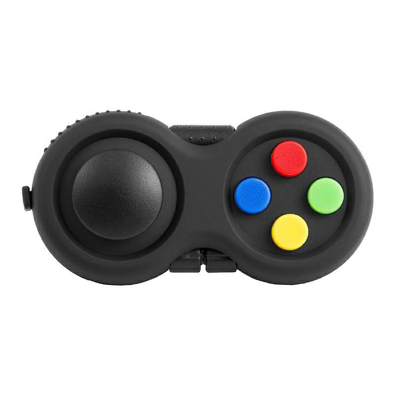 Game Controller Gamepad Shape Fidget Toy Fidget Pad Anxiety Stress Relief Fidget Toy Fit for Children Adult - Multicolor