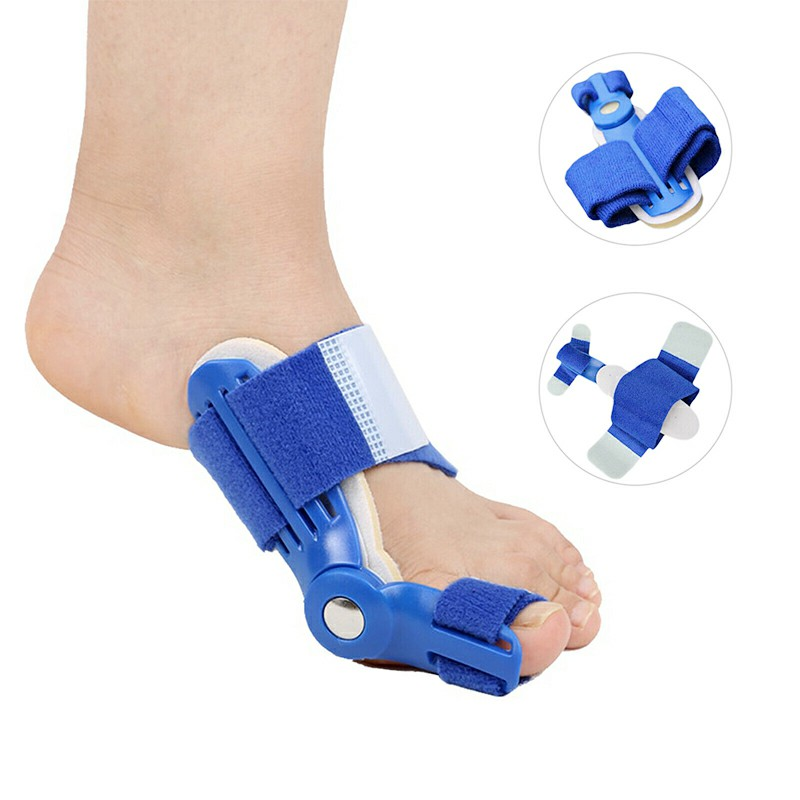 Big Toe Bunion Device Splint Straightener Hallux Valgus Pro Braces Corrector Foot Pain Relief Aid Thumb Care Daily Orthotic - Blue