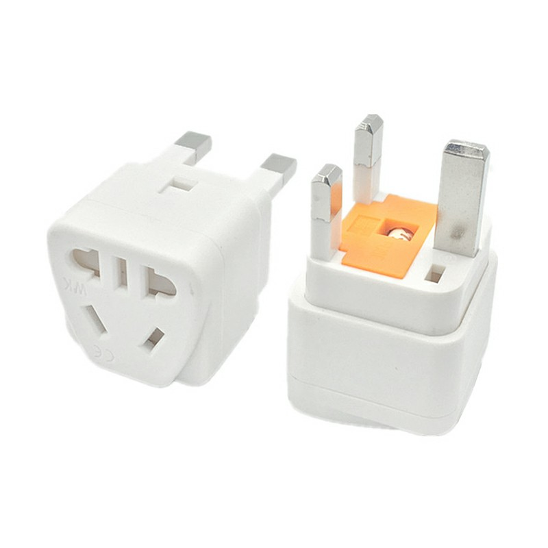 British Standard Conversion Connector Plug Power Adapter Universal Conversion Adapter with Insurance - White