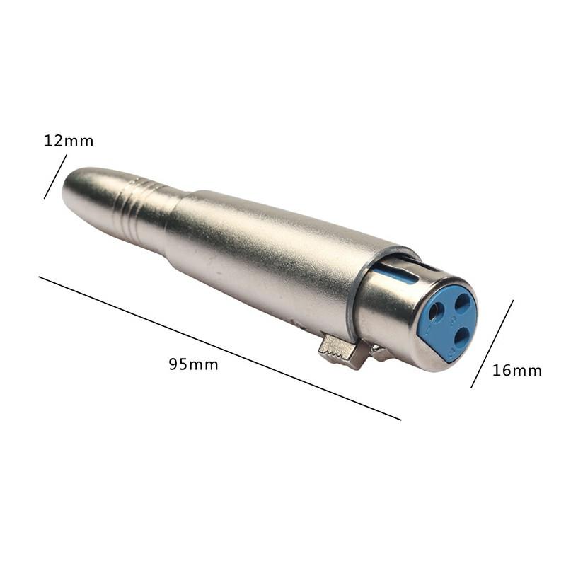 Zinc Alloy 6.35mm XLR Adaptor Female to Female Transfer Audio XLR Adapter