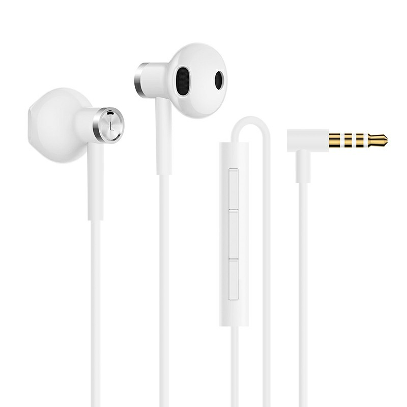M9 3.5MM Wired In-ear Headphones with Microphone Ergonomic Earphones 360 Degree Surround Sound - White
