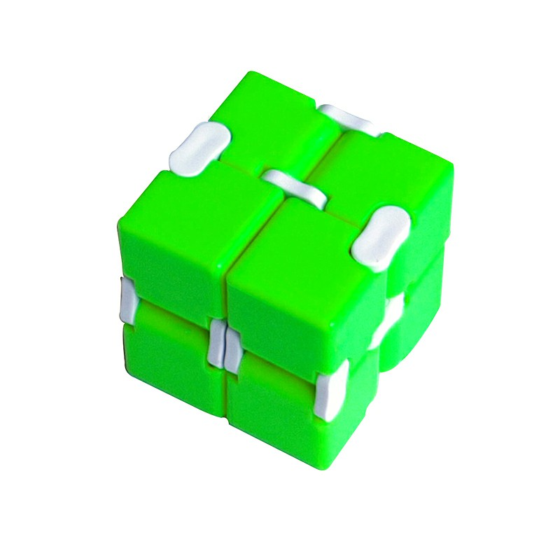 Fidget Magic Blocks Infinity Cube Puzzle Flip Cube Anti Press Hand Toy - Green