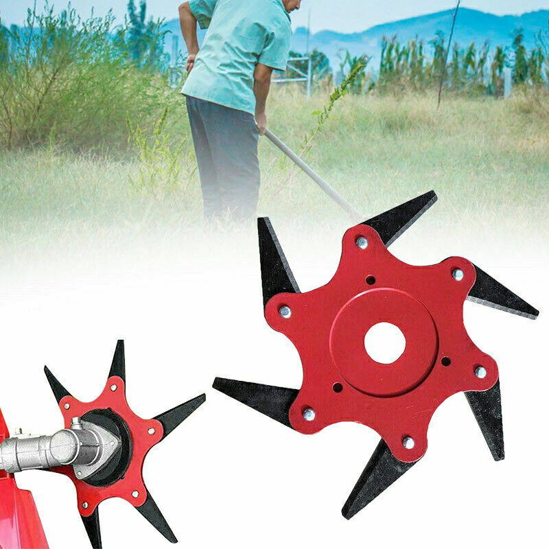 6 Steel Blades 65Mn Trimmer Head Cutter Trimmer Grass for Lawn Mower