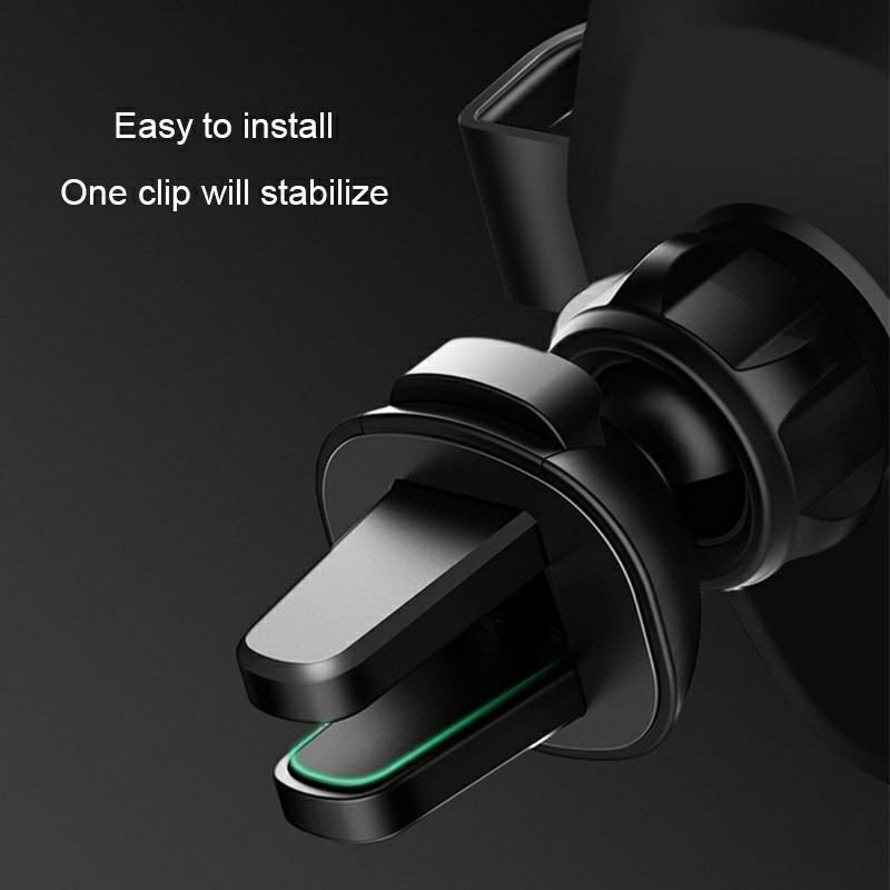 Q12 Car Phone Holder Stand QI Wireless Charger Intelligent Sensor Car Holder Charger - Black
