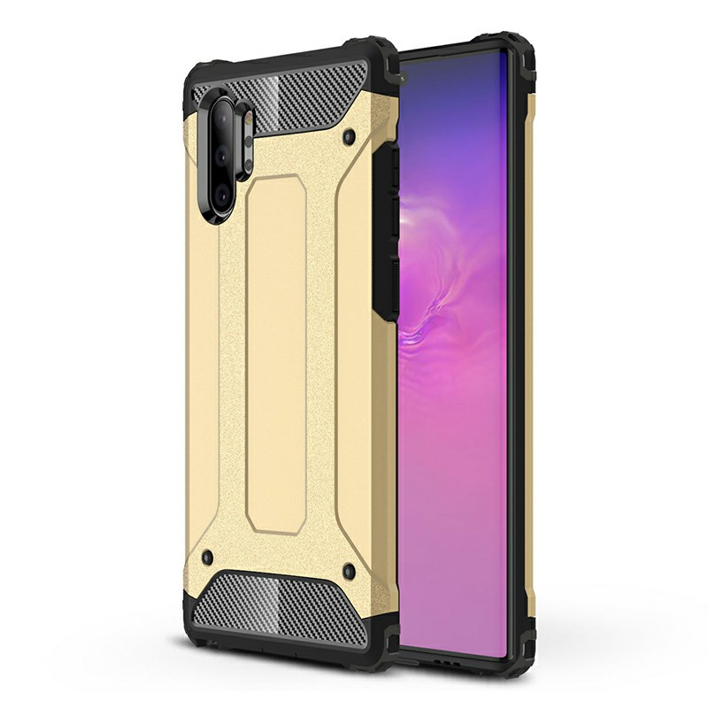 Rugged Armor TPU + PC Hard Case Back Case Cover for Samsung Galaxy Note 10 Plus - Gold