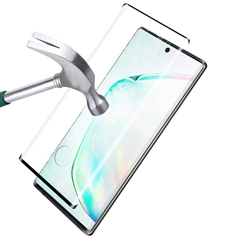 Tempered Glass Screen Film Protector Protective Glass for Samsung Galaxy Note 10 Plus - Black