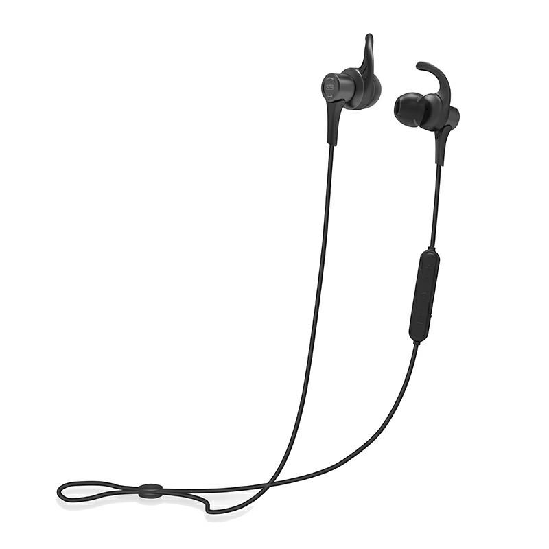 BYZ-T23 Sports Magnetic HiFi Stereo Wireless Bluetooth Headset In-ear Long Standby Earphones - Black