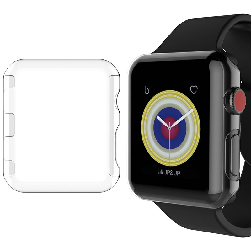 Apple Watch Clear Hard PC Case Cover Screen Protector for iWatch Series 2/3 - 38mm