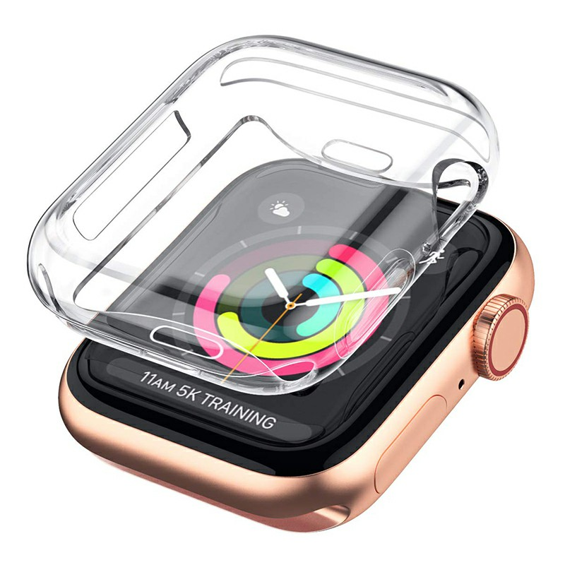 High Transparent Soft TPU Apple Watch Protective Case Cover for iWatch Series 4 - 44mm
