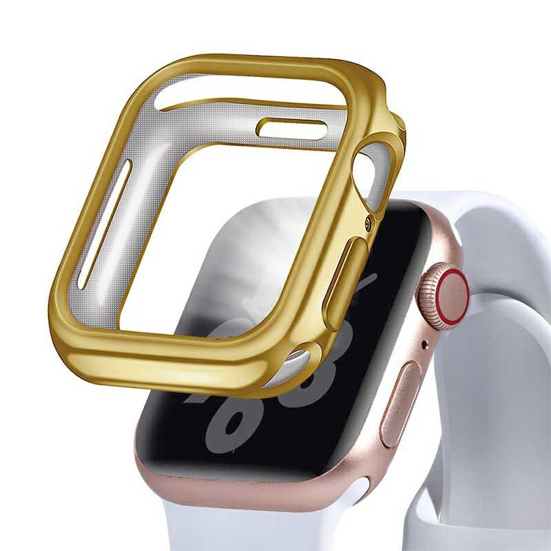 40mm Plated Protective iWatch Case TPU Cover Case for Apple Watch Series 4 - Gold