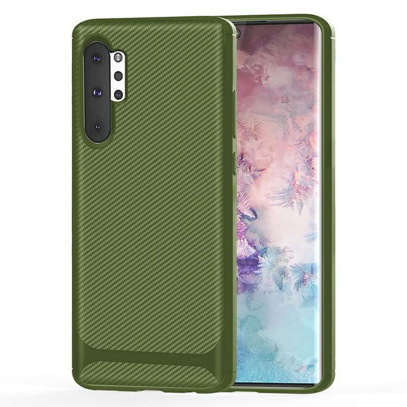 Soft Matte TPU Phone Case Slim Back Cover for Samsung Galaxy Note 10 Plus - Green